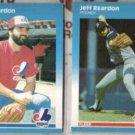 JEFF REARDON 1987 Fleer #329 + Update #U-101.  EXPOS / TWINS