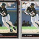 TIM RAINES 1992 Leaf Black GOLD Insert w/ sister.  WHITE SOX