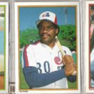 TIM RAINES 1984, 86 + 87 Topps AS Glossy.  EXPOS