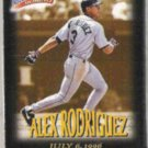 ALEX RODRIGUEZ 1997 Fleer Million $ Moments Ins. #28 of 50.  MARINERS