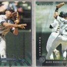 ALEX RODRIGUEZ 1997 + 1998 Donruss.  MARINERS