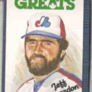 JEFF REARDON 1985 Leaf Canadian Greats #214.  EXPOS