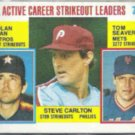 NOLAN RYAN 1984 Topps Leaders #707 w/ Seaver, Lefty.  ASTROS