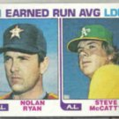 NOLAN RYAN 1982 Topps Leaders #167.  ASTROS