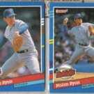 NOLAN RYAN (2) 1991 Donruss #'s - 89 + BC-3.  RANGERS