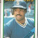 HAROLD REYNOLDS 1988 Topps #485.  MARINERS