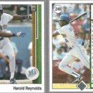 HAROLD REYNOLDS (2) 1989 Upper Deck #249.  MARINERS