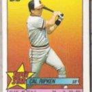 CAL RIPKEN 1989 Topps Star Stickers Mini #11.  ORIOLES