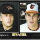 CAL RIPKEN 1993 Pinnacle Now + Then #471.  ORIOLES