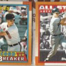 CAL RIPKEN 1990 Topps RB #8 + AS #388.  ORIOLES