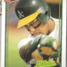 WILLIE RANDOLPH 1991 Topps #525.  A's