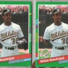 WILLIE RANDOLPH (2) 1991 Donruss WS #766.  A's