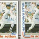 WILLIE RANDOLPH (2) 1982 Topps In Action #570.  YANKEES