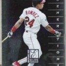 MANNY RAMIREZ 1998 Donruss Elite #136.  INDIANS