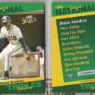 DEION SANDERS (2) 1993 Select Leaders #22 of 90.  BRAVES