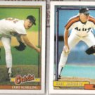 CURT SCHILLING 1991 + 1992 Topps.  ORIOLES / ASTROS