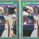 DARRYL STRAWBERRY (2) 1991 Score #640.  METS