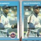 DARRYL STRAWBERRY (2) 1987 Fleer #23.  METS