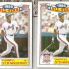 DARRYL STRAWBERRY (2) 1987 Topps AS Glossy #8 of 22.  METS