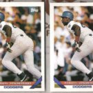 DARRYL STRAWBERRY (2) 1993 Topps #450.  DODGERS
