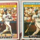 DARRYL STRAWBERRY 1986 + 1987 Kay Bee.  METS