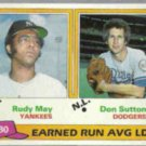 DON SUTTON 1981 Topps #7 w/ Rudy May.  DODGERS
