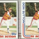 DON SUTTON (2) 1982 Topps In Action #306.  ASTROS