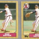 DON SUTTON (2) 1987 Topps #673.  ANGELS
