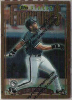GARY SHEFFIELD 1996 Topps Finest Franchises #309.  MARLINS