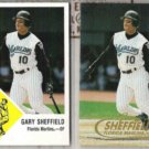 GARY SHEFFIELD 1998 Fleer Vintage 63 + Tradition.  MARLINS