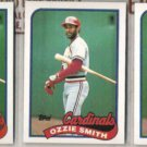 OZZIE SMITH (3) 1989 Topps #230.  CARDS