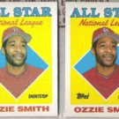 OZZIE SMITH (2) 1988 Topps All Star #400.  CARDS