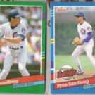 RYNE SANDBERG 1991 Donruss #504 + Highlights #BC-7.  CUBS