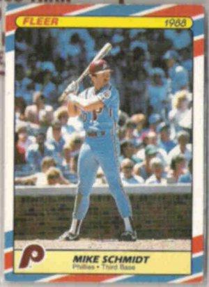 MIKE SCHMIDT 1988 Fleer Superstars #33 of 44.  PHILLIES