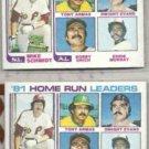 MIKE SCHMIDT (2) 1982 Topps #162 w/ Murray, Grich++.  PHILLIES