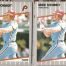 MIKE SCHMIDT (2) 1989 Fleer #582.  PHILLIES
