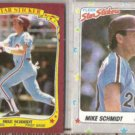 MIKE SCHMIDT 1986 + 1988 Fleer Star Stickers.   PHILLIES