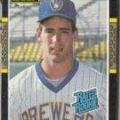 BJ SURHOFF 1987 Leaf Rated Rookie #28.  BREWERS