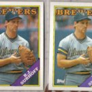 BJ SURHOFF (2) 1988 Topps #491.  BREWERS