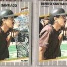 BENITO SANTIAGO (2) 1989 Fleer #316.  PADRES