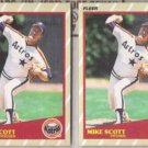 MIKE SCOTT (2) 1989 Fleer Superstars #37 of 44.  ASTROS