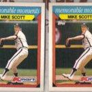 MIKE SCOTT (2) 1988 Topps KMart Moments #26.  ASTROS