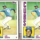 LEE SMITH (2) 1984 Topps #176.  CUBS