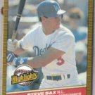 STEVE SAX 1986 Donruss Highlights #50.  DODGERS
