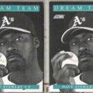 DAVE STEWART (2) 1991 Score Dream Team #883.  A's