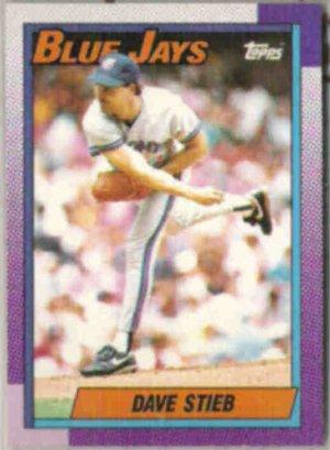 DAVE STIEB 1990 Topps #320.  BLUE JAYS
