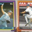 BRET SABERHAGEN 1990 Topps + 1990 Topps AS.  ROYALS
