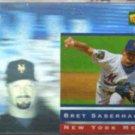 BRET SABERHAGEN 1995 Denny's Hologram Insert #22/28.  METS