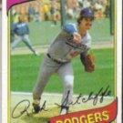 RICK SUTCLIFFE 1980 Topps #544.  DODGERS