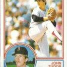 JOHN TUDOR 1983 Topps #318.  RED SOX